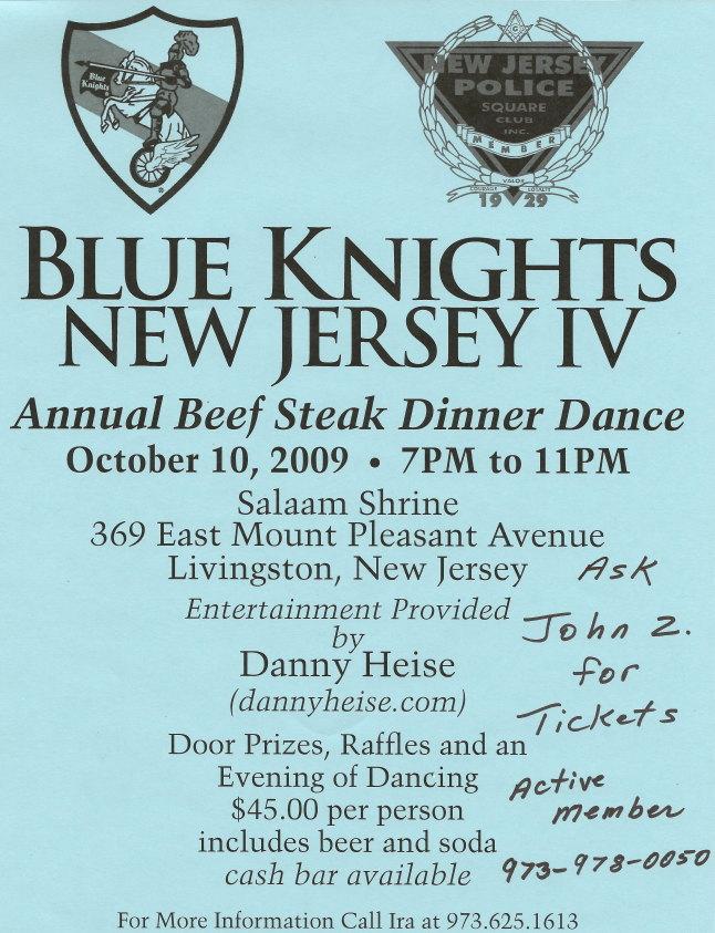 Blue Knights Dinner 10-10-09